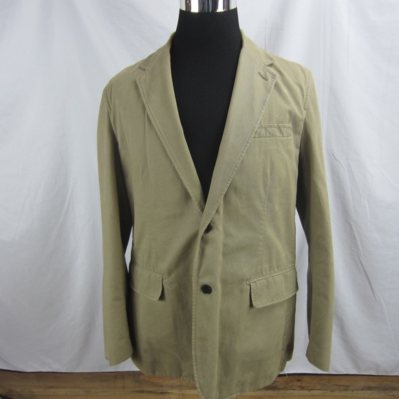 Express Other - Express Blazer Men's Large Tan Khaki Sport Coat